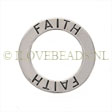 STERLING ZILVEREN FAITH AFFIRMATIE BEDEL OF HANGER 21MM!